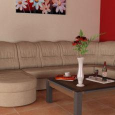 A magastámlás ülőgarnitúra komfortossá teszi a nappalit