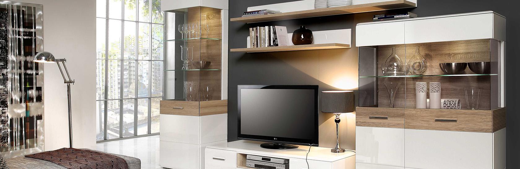 Modern elemes nappali bútorcsaládok