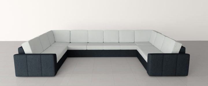 Az U alakú ülőgarnitúra pihenésre csábítja!