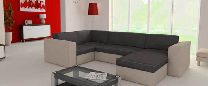 Az U alakú kanapé előtt megnyílik a tér!