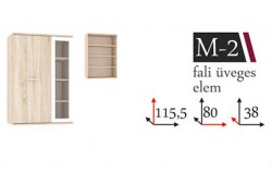 Manhattan M-2 fali vitrines elem