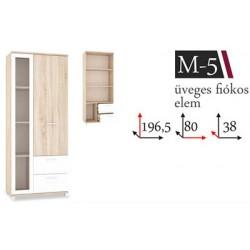Manhattan M-5 vitrines, fiókos elem